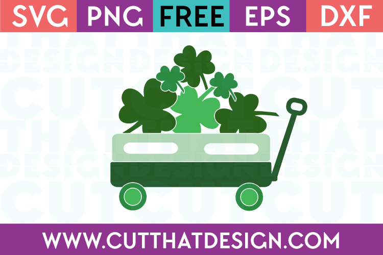 St Patricks Day Little Wagon Design 2 Free SVG
