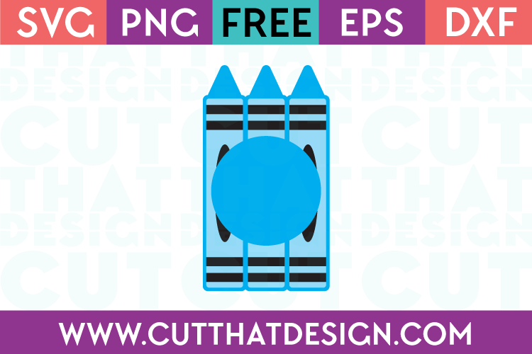 free monogram crayon svg file