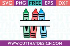 Free Crayon Monogram SVG File