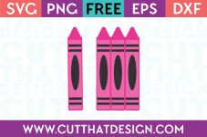 SVG Cutting Files for School Crayons