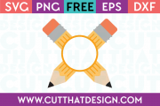 Free Pencil with Monogram SVG