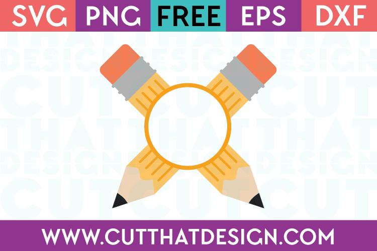 Free Pencil with Monogram SVG