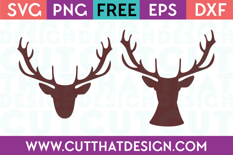 Free Deer Head Designs Set SVG
