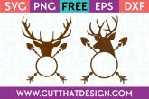 Free Deer Head Arrow Monogram Designs Set SVG Format