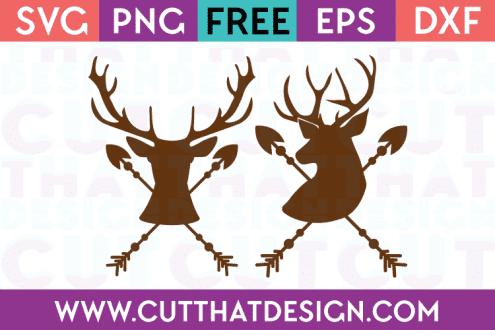 Deer Head Arrow Cutting Files Free