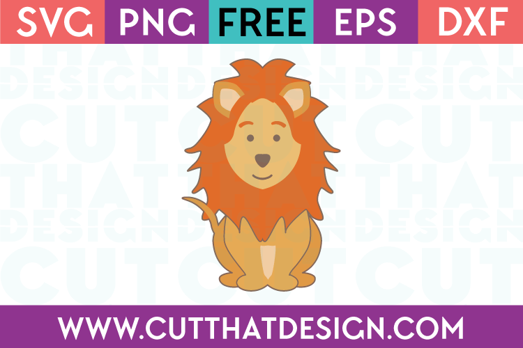 Free Cute Little Lion SVG Cutting File