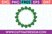 Free Shamrock Circle Frame SVG
