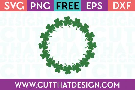 Free Shamrock Circle Frame SVG