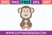 Free Cute Baby Monkey SVG