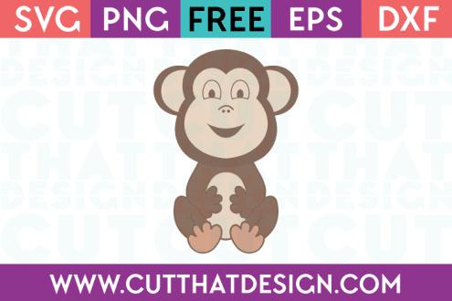 Free Cute Baby Monkey SVG