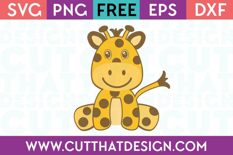 Free Baby Giraffe SVG Cut