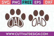 Free Dad Paw Print Designs SVG