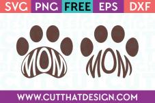 Free Mom Paw Print SVG Files