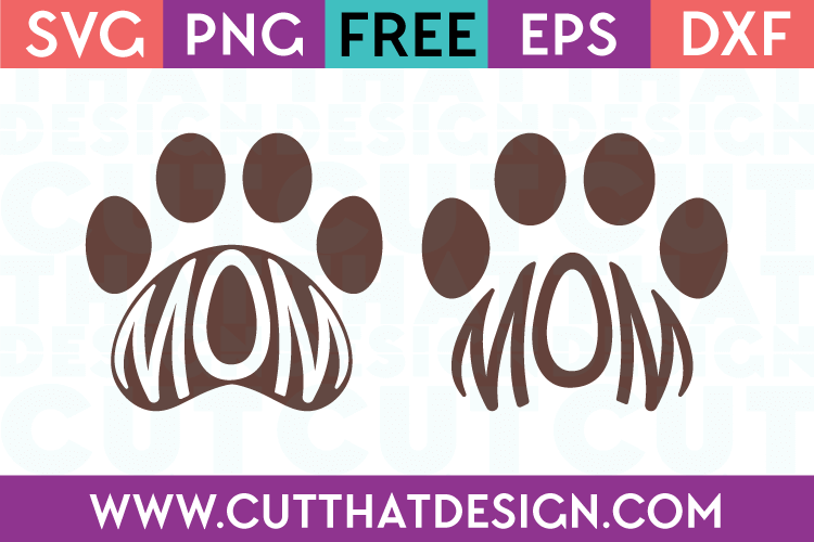 Free Mom Paw Print SVG Files