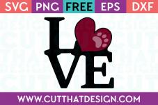 Love Word Art SVG