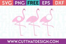 Flamingo Monogram Free SVG Cuts