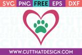 Free Paw Print SVG Files