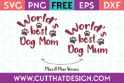 World Best Dog Mum SVG