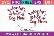 World Best Dog Mum SVG