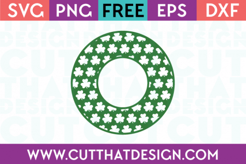 Free Circle Frame SVG Shamrocks
