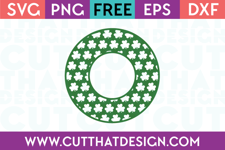 Free Circle Frame SVG Shamrocks