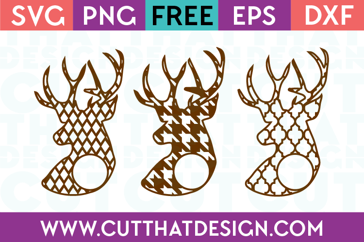 Free SVG Cutting Files Site Deer Patterns