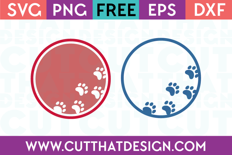Download Free Paw Print SVG Cutting Files