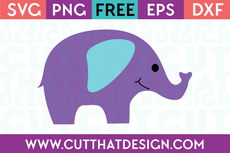 Free SVG Baby Elephant Download