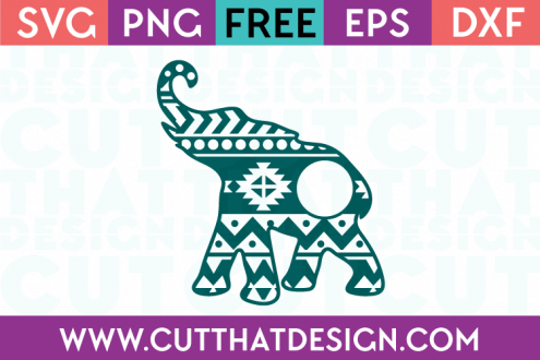 Free Aztec Monogram Elephant SVG Download