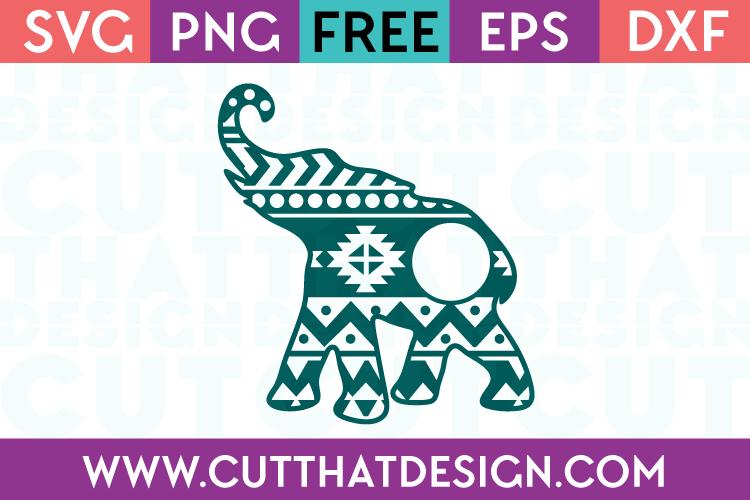 Free Aztec Monogram Elephant SVG Download