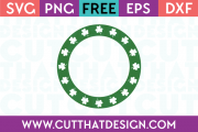 Free Shamrock SVG Circle Frames