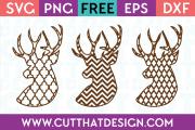 Deer Heads Patterned SVG Cut Files