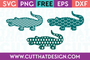 Free Patterned Crocodile SVG Cutting Files
