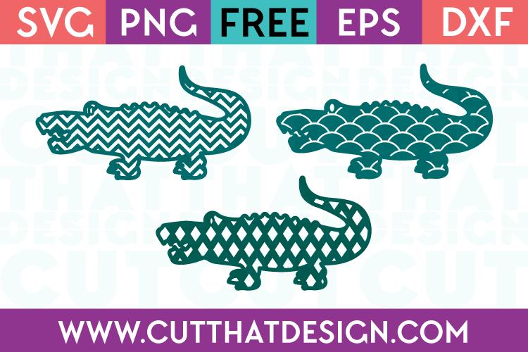 Free Patterned Crocodile SVG Cutting Files