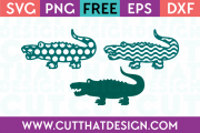 Patterned Crocodile SVG
