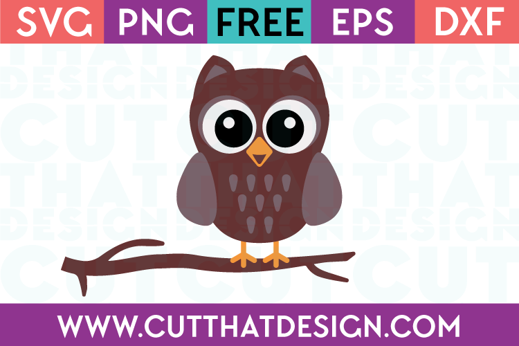 Free Owl on a Branch SVG Cut File