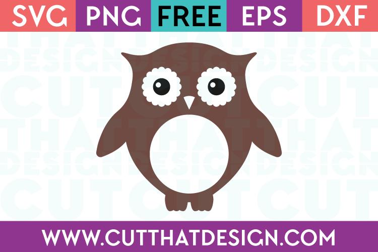 Owl Monogram SVG Free Cutting Files