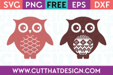 Patterned Owl SVG Cuts
