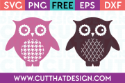 SVG Cutting File Owl Patterns
