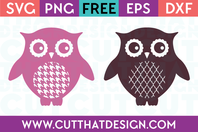 SVG Cutting File Owl Patterns