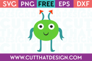 Free Alien SVG File