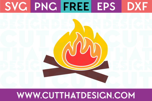 Camping SVG Files Fire