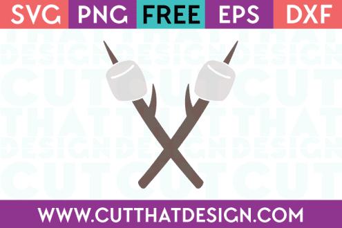 Marshmallow on a Stick SVG