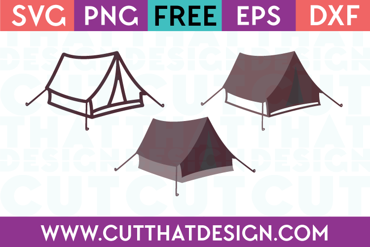 Camping Tents Design Set