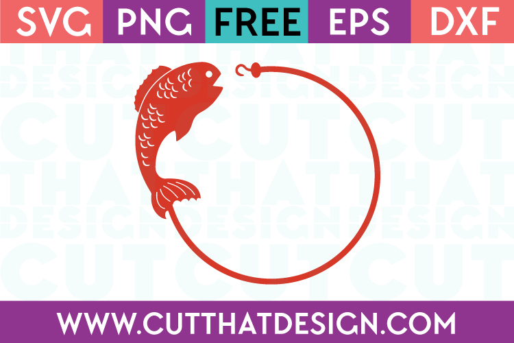 Fish and Hook Circle Monogram