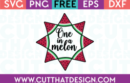 Free SVG Files One in a Melon Frame