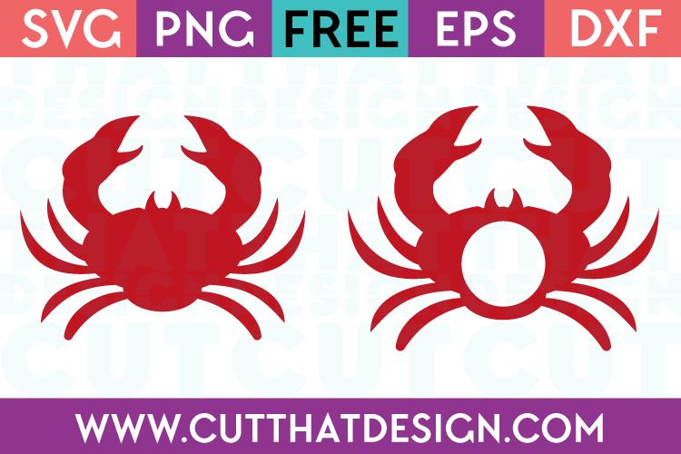 free crab monogram svg