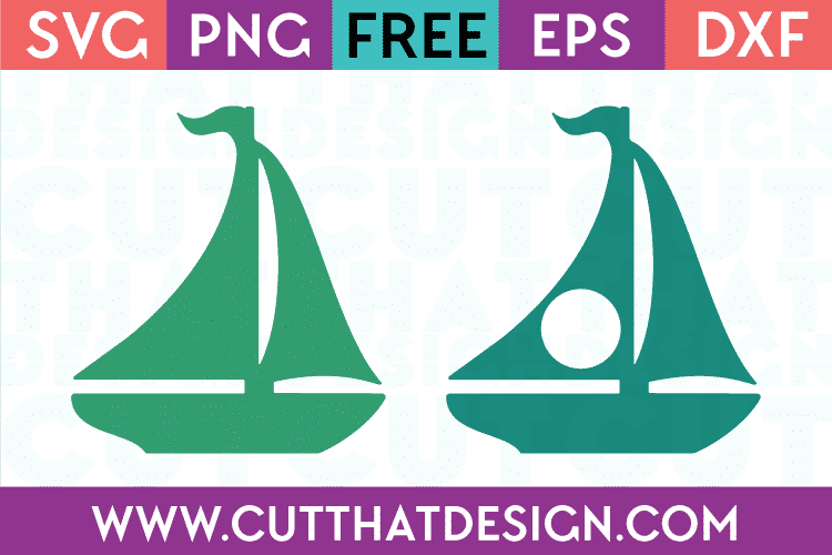 Sail Boat Monogram svg cut files for cricut