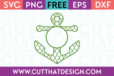 FREE ANCHOR MONOGRAM SVG