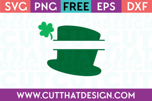 Free Split Hat with Shamrock SVG File